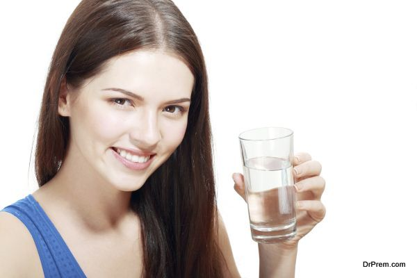 Woman with glass of Water