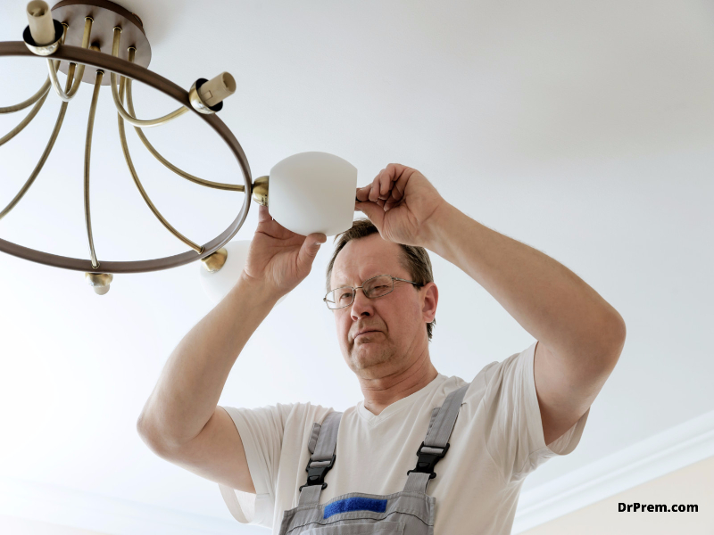 What to do while replacing a ceiling lighting fixture