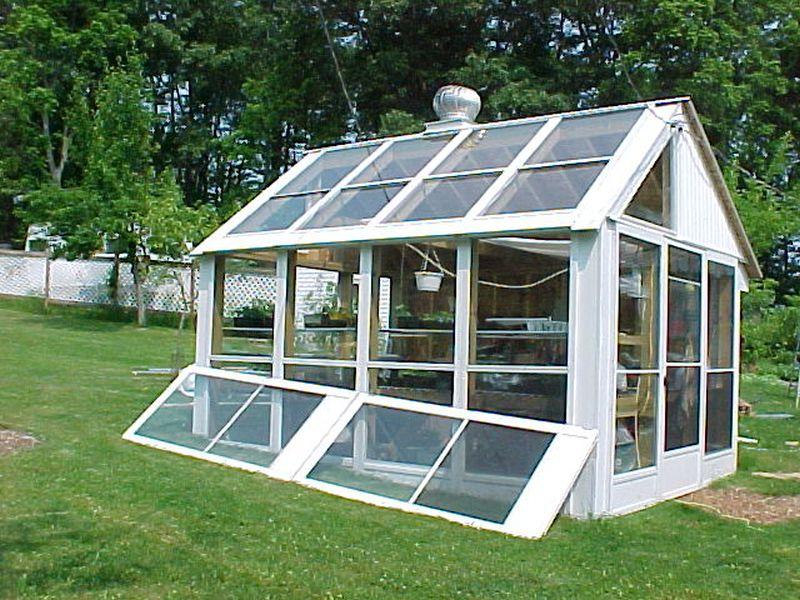 old doors greenhouse