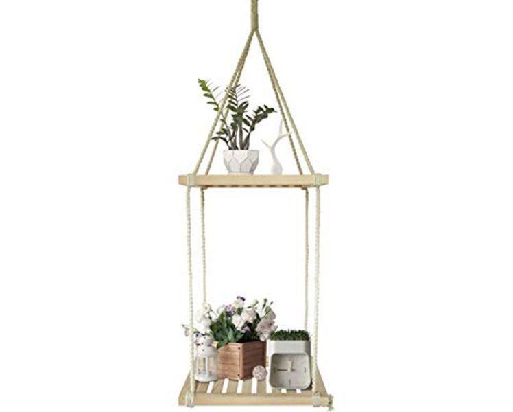 Macramé Hanging Plant Shelf
