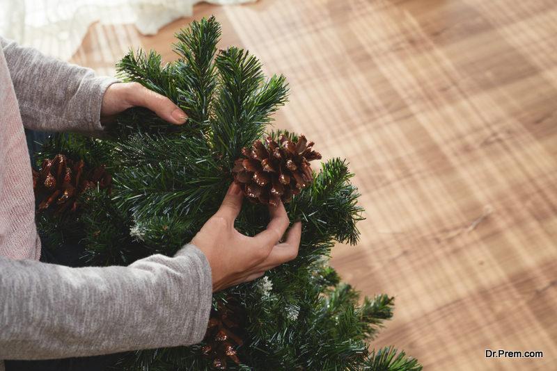 Artificial DIY Christmas tree