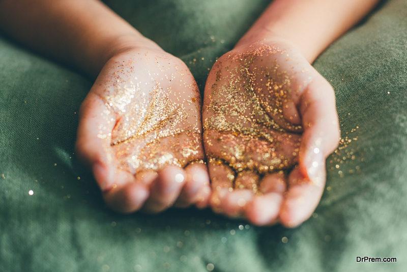 Giving kids glitter