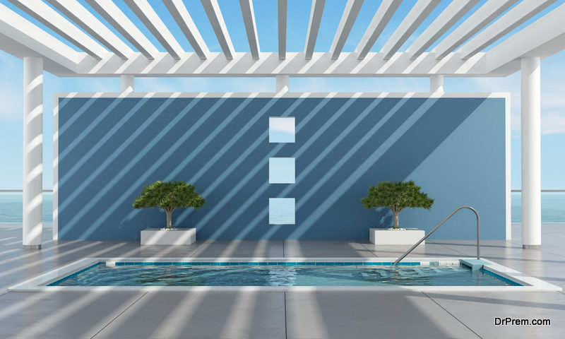Shaded Pool Area