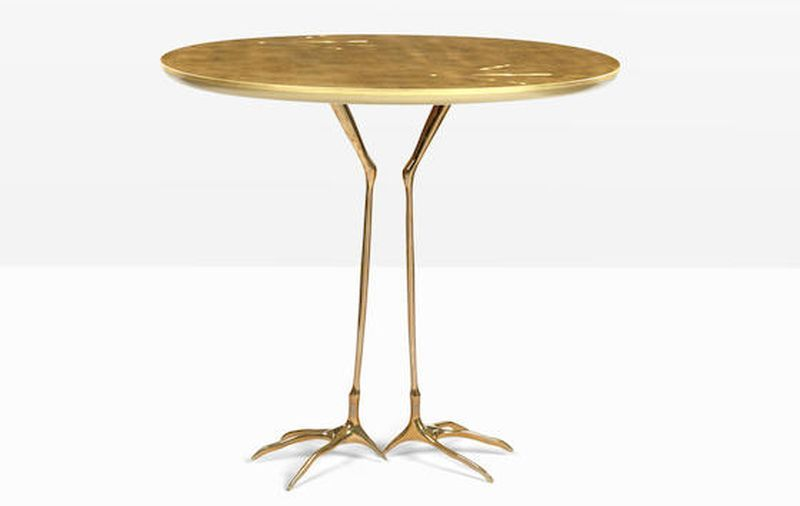 Gold and bronze leaf Tracchia table