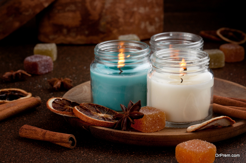 candles are a great way to add a holiday scent