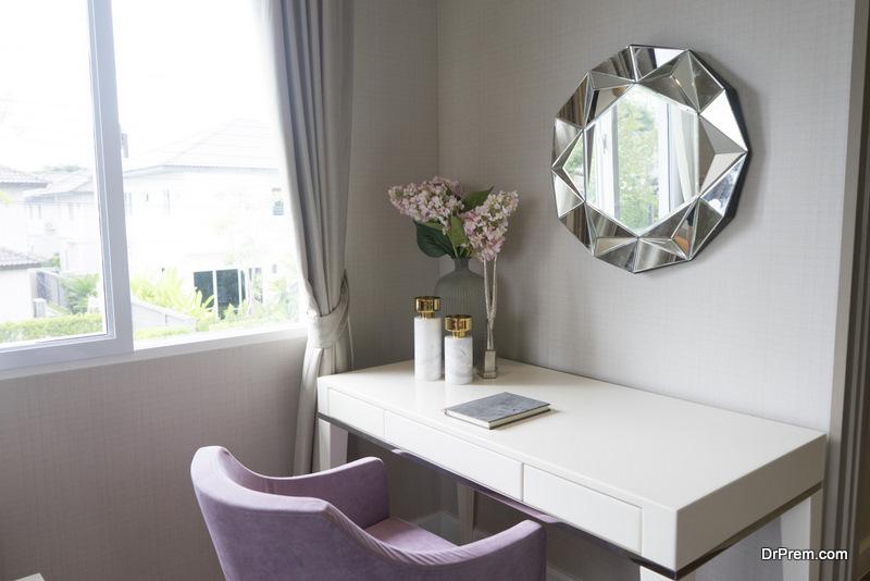 Barstool makeup vanity table