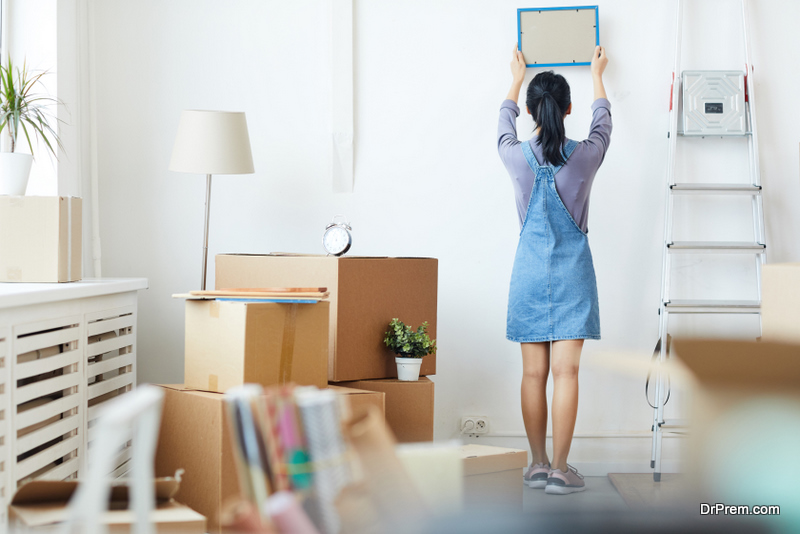 Decluttering task at home