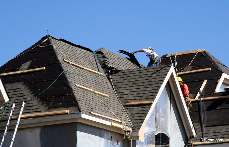 Risky roofing task